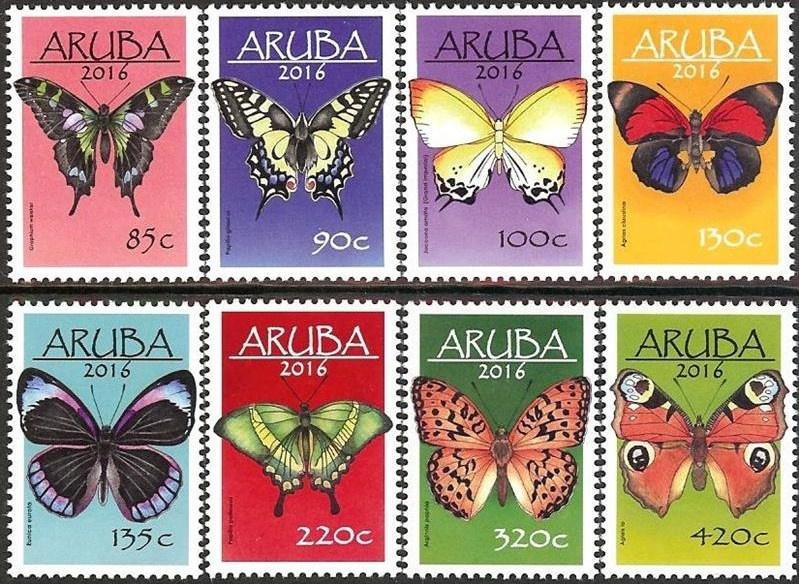 Aruba 868/875 Vlinders 2016 Postfris