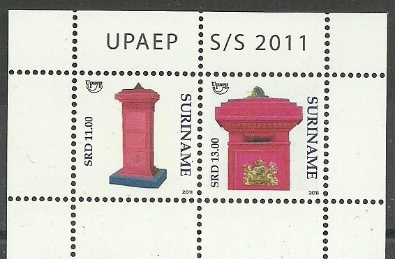 Suriname Republiek  1832 Blok UPAEP 2011 Postfris