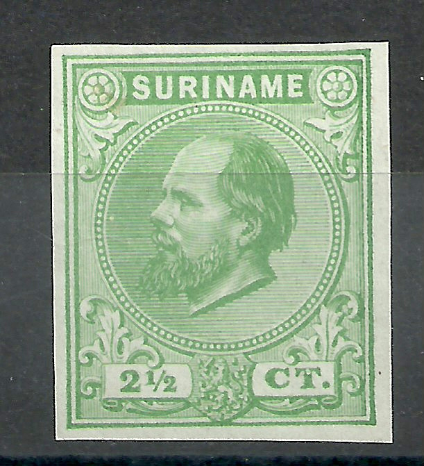 Suriname   1c  groen 2½ct Berlijnse Kleurproef Ongebruikt (1)