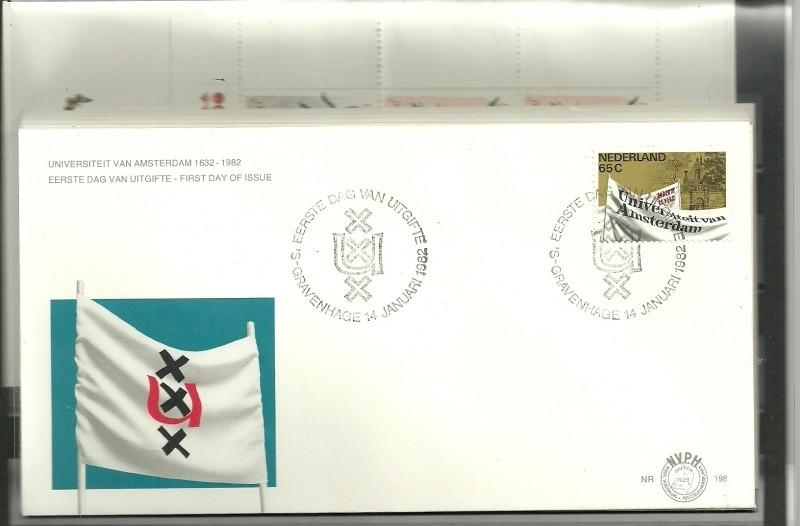 FDC Jaargang 1982 compleet onbeschreven met open klep E198/E206a