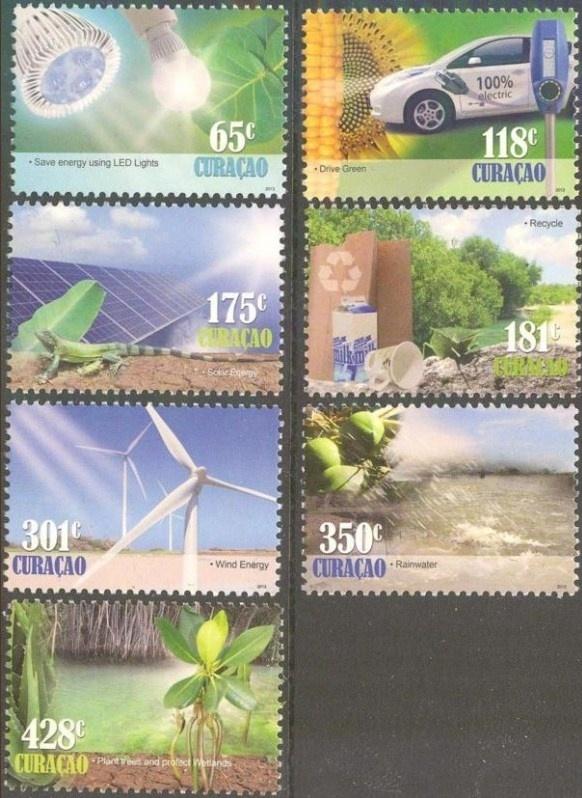 Curaçao Status Aparte 129/135 Go Green 2013 Postfris