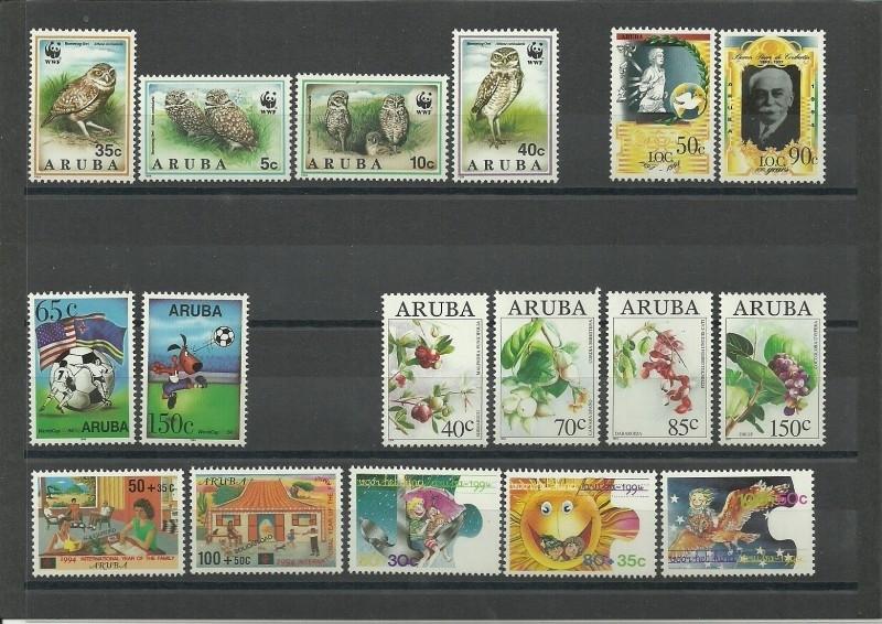 Complete Jaargang Aruba 1994 Postfris