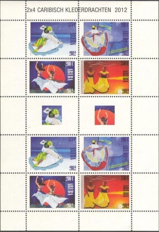 Aruba V613/616 Caribische Klederdracht 2012 Postfris