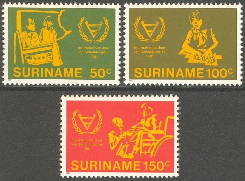 Suriname Republiek 265/267 Int. Invalidenjaar 1981 Postfris