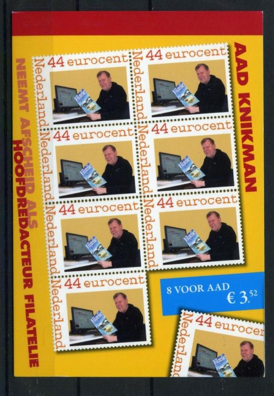 Postzegelboekje Postaumaat 8 voor Aad KnikmanPostfris