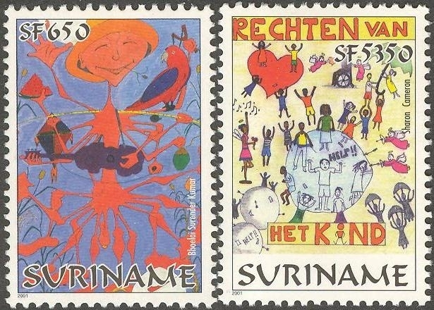 Suriname Republiek 1113/1114 Jeugdfilatelie Suriname 2001 Postfris