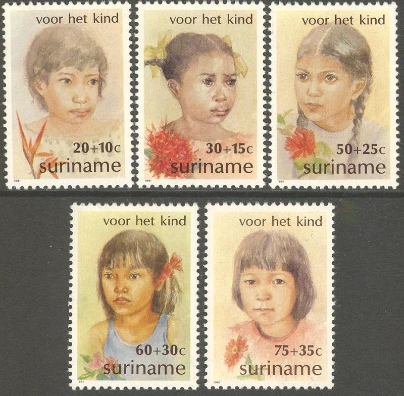 Suriname Republiek 274/278 Kinderzegels 1981 Postfris