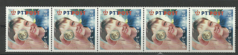 Port Betaald   7 5 Strip Postfris