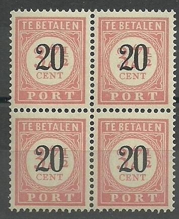 Nederlands Indië Port 40 Postfris