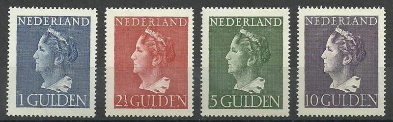 Nvph 346/349 Konijnenburg Hoge Waarden Ongebruikt (2)