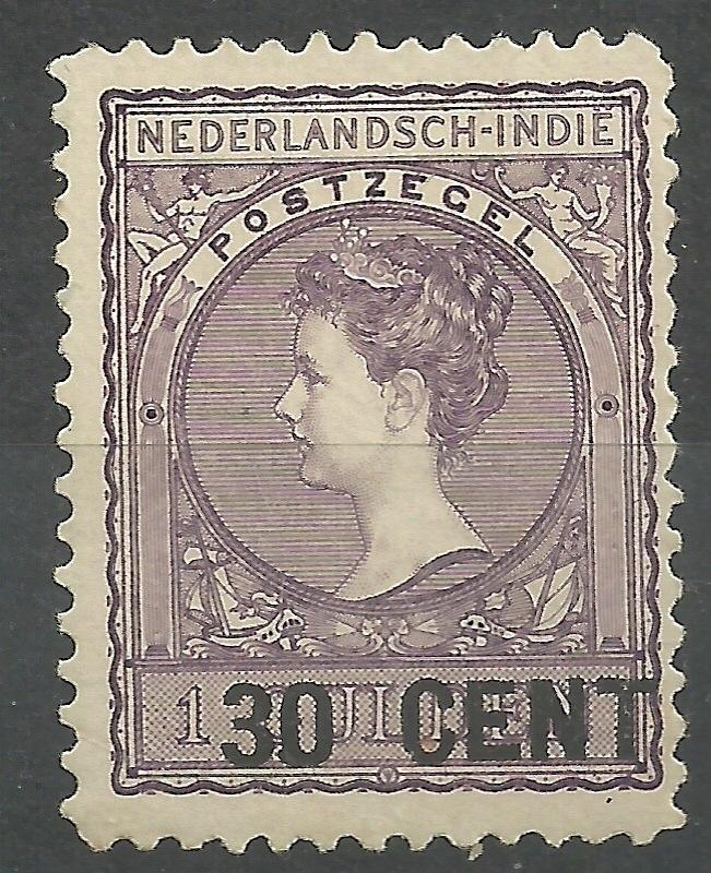 Nederlands Indië 141A 30ct op 1 Gld (11½×11) Nooduitgifte Ongebruikt (1)