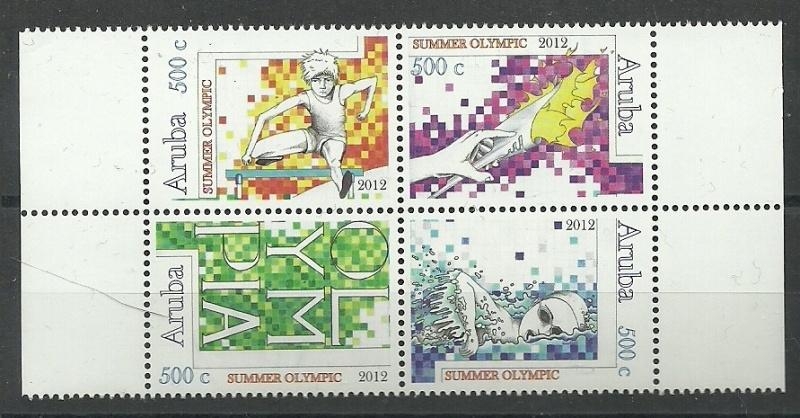 Aruba 598/601 Olympische Spelen 2012 Postfris