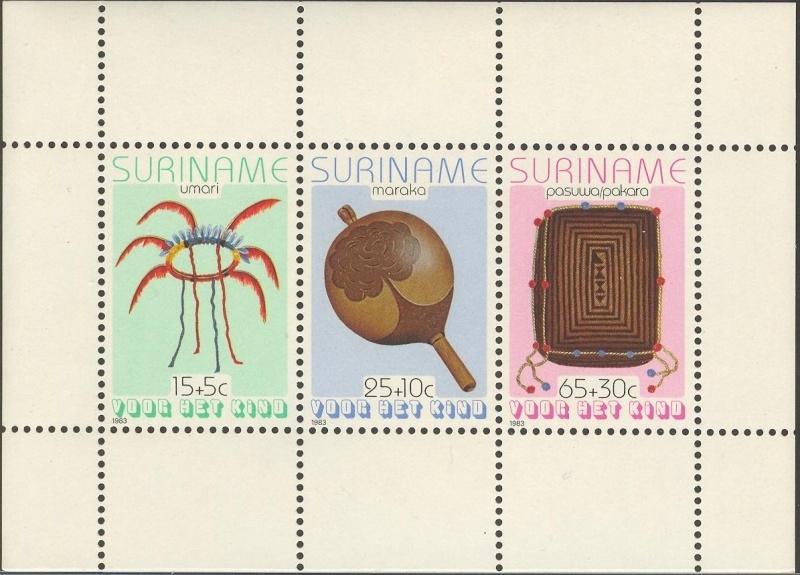 Suriname Republiek 379 Blok Kinderzegels 1983 Postfris