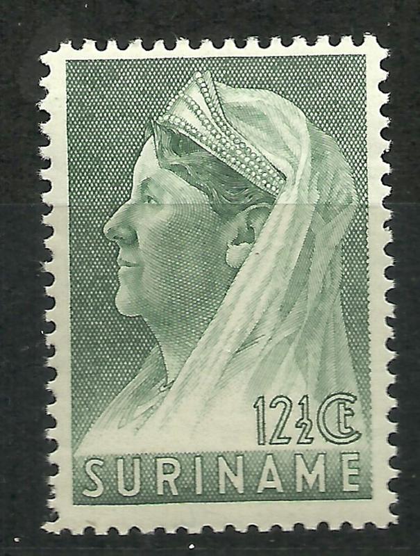 Suriname 168A (12½ × 12½) 12½ ct Wilhelmina met Sluier Postfris (1)
