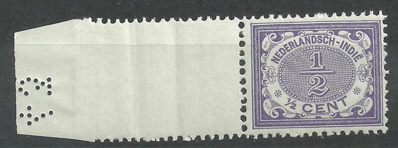 Nederlands Indië  40 ½ct Cijferzegel 1902/1909 Postfris + Velrand met cijferpons