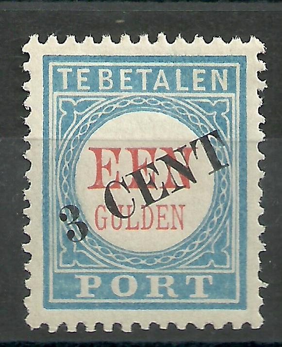 Port  27 3 ct op 1 Gld  1906/1910 Type II Postfris (1)