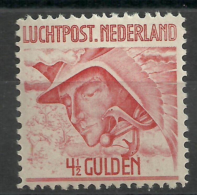 Luchtpost  7  4½ Gld Mercurius Postfris