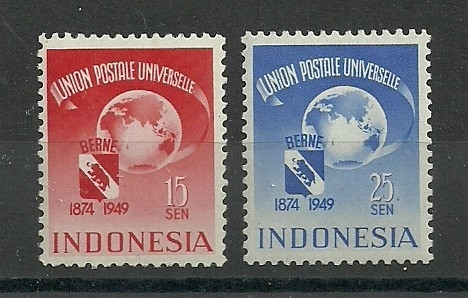 Indonesië 372/373 Jubileumzegels Postfris