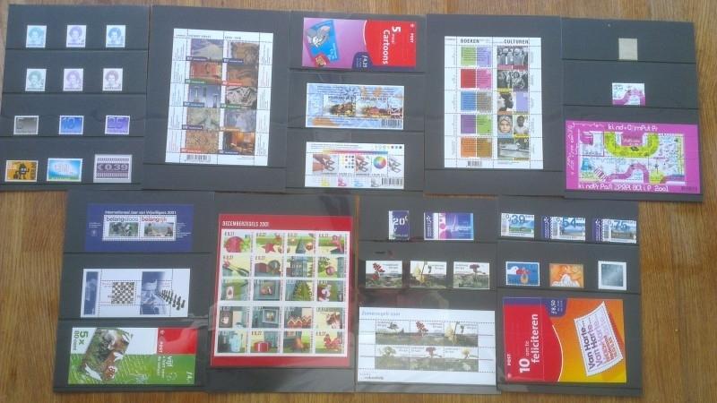 Complete Jaargang 2001 Postfris (Met blokken en boekjes)