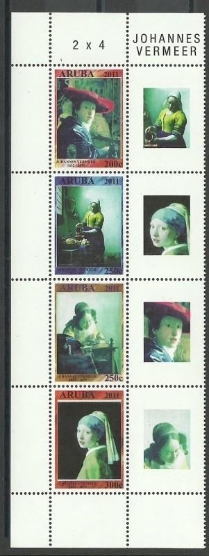 Aruba 564/567 Johannes Vermeer 2011 Postfris