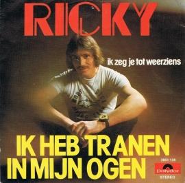 RICKY - IK HEB TRANEN IN MIJN OGEN