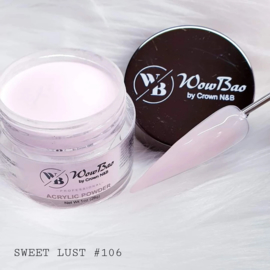 WowBao Nails acryl poeder nr 106 Sweet Lust 56g