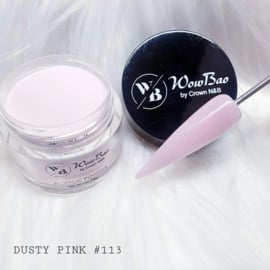 WowBao Nails acryl poeder nr 113 Dusty Pink 28g