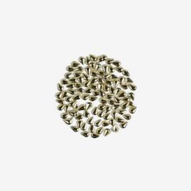 Semilac nailart studs Druppel groot goud 768 100pcs