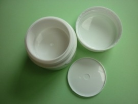 Leeg potje wit klein 15 gram