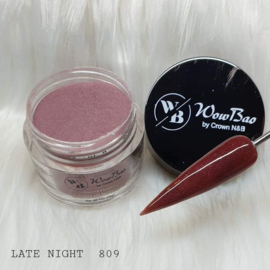 WowBao Nails acryl poeder Glitter nr 809 Late Night 28g