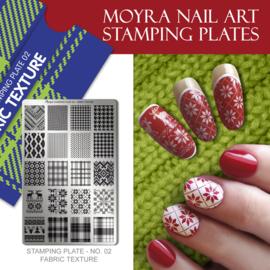 Moyra Stempel Plaat 02 Fabric Texture