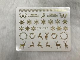 Waterdecal kerst/winter STZ-Y17 goud