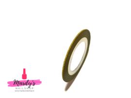 Striping Glitter Tape Goud 1mm