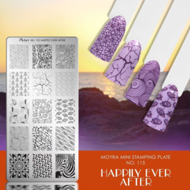 Moyra Mini Stempel Plaat 115 Happily Ever After