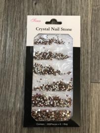 Crystal steentjes koper 07 1728st.