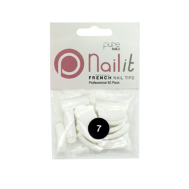 Pure Nails Tips French Half Well Refill 50st.