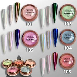 WowBao Nails PEARLS chrome pigment, keuze uit 5 kleuren