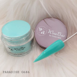 WowBao Nails acryl poeder nr G686 Paradise 28g
