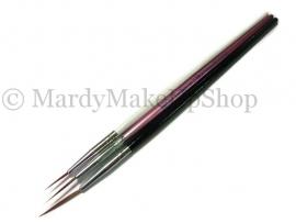 Nailart penselen set zwart/wit/roze 3 delig