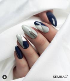 Semilac nailart studs triangle zilver 775 100pcs