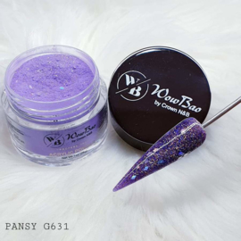 WowBao Nails acryl poeder Glitter nr G631 Pansy 28g
