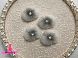 3D nailart bloem acryl 05 grijs