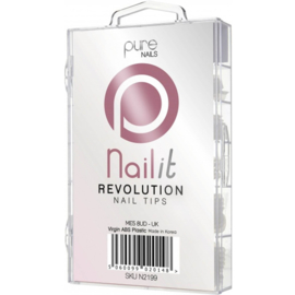 Pure Nails Tips Natural Half Well Revolution 100st.