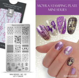 Moyra Mini Stempel Plaat 122 Let it Snow