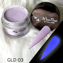 WowBao Nails acryl poeder color glow in the dark GLD03 28g
