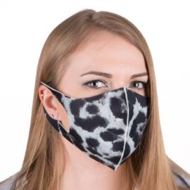 Masker herbruikbaar Leopard grijs maat L / XL 1 stuk