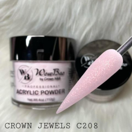 WowBao Nails acryl poeder shimmer 208 Crown Jewels 56g