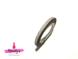 Striping Glitter Tape Zilver 3mm