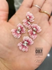 3D nailart bloem acryl 87 fuchsia