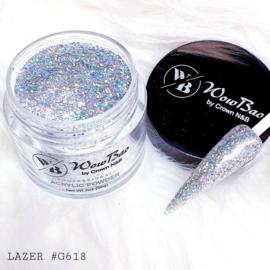 WowBao Nails acryl poeder Glitter nr G618 Lazer 28g